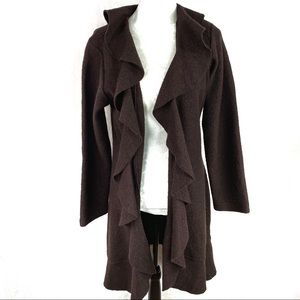 Fenn Wright Manson wool ruffled  coat